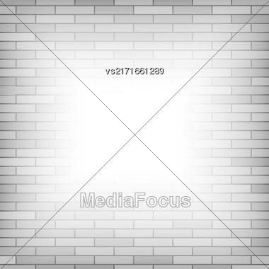 Brick Wall Background. Grrey Pattern Of Brick Texture Stock Photo
