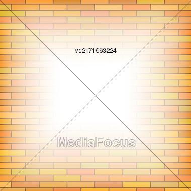 Brick Wall Background. Orange Pattern Of Brick Texture Stock Photo
