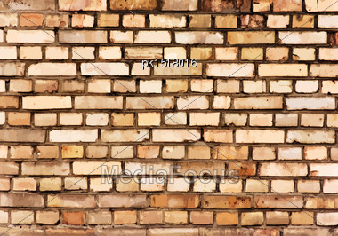 Brick Wall Detail Texture. EPS 10 Vector Illustration Without Transparency Stock Photo