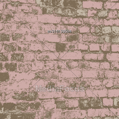 Brick Wall Of The House, With Lines Of A Laying Of A Solution. Vector Illustration Stock Photo