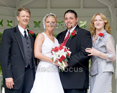 Bride And Groom With Pas Stock Photo
