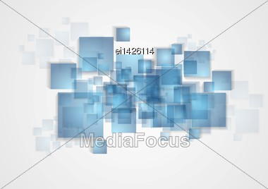 Bright Abstract Squares Vector Background Stock Photo