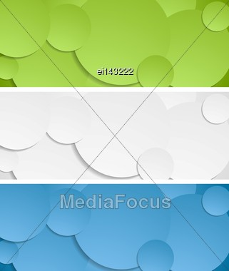 Bright Circles Vector Banners Collection Stock Photo