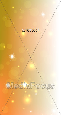 Bright Orange Abstract Christmas Background With Space For Your Text - Vector Stock Photo