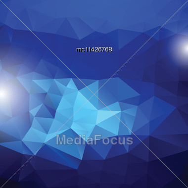 Bright Rainbow Vector Background From Mosaic Triangles. Good For Web, Mobile Devices, Website And More Stock Photo