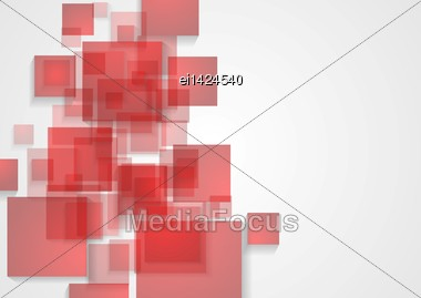 Bright Red Squares Vector Background Stock Photo
