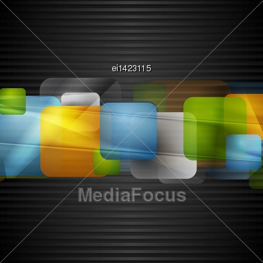 Bright Squares On The Dark Striped Background. Vector Eps 10 Stock Photo
