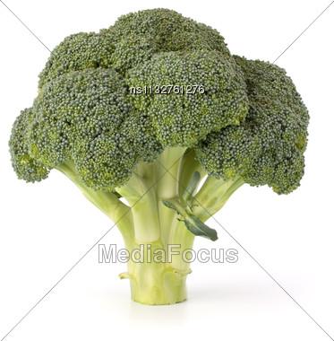 Broccoli Vegetable Isolated On White Background Stock Photo