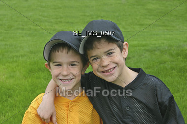 Brothers in Uniform Stock Photo