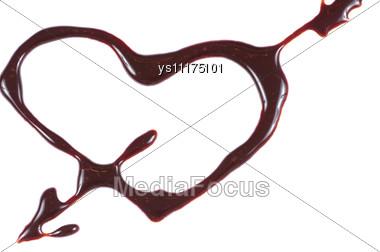 Brown Chocolate Heart Stock Photo