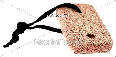 Brown Pumice For Legs Isolated Stock Photo