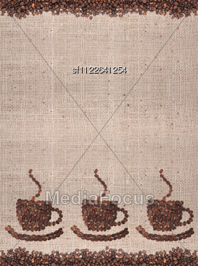 Brown Roasted Coffee Beans Stock Photo
