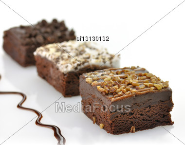Brownies Assortment Stock Photo