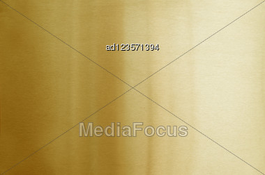 Brushed Golden Metal Background Stock Photo