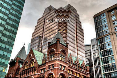 Buildings Old And New Toronto Yonge Street Stock Photo