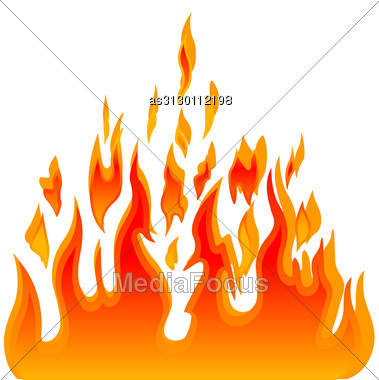 Burn Flame Fire Vector Background Stock Photo