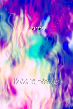 Burning Flames Of The Purplr And Blue Colors Background Stock Photo