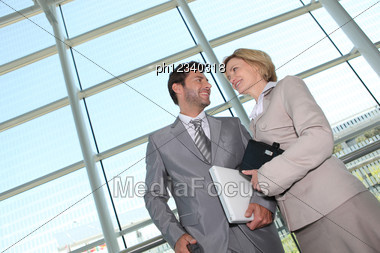 Business Couple. Stock Photo