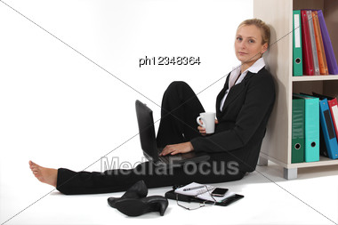 Business Professional Taking It Easy Stock Photo