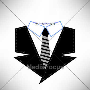 Business Suit Icon Isolated On White Background Stock Photo