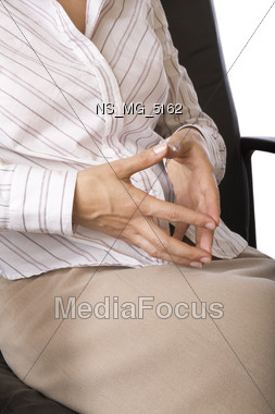 Business Woman Gestures Stock Photo
