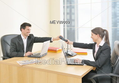 man meeting woman clip art