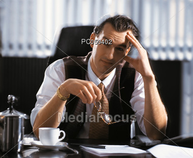 Business Worries Stock Photo