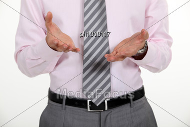 Businessman Asking Question Stock Photo