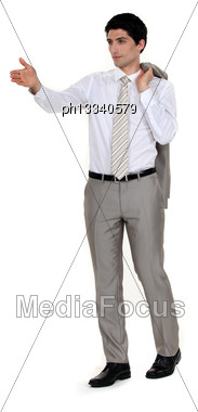 Businessman Directing Stock Photo