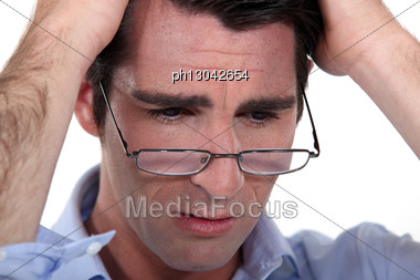 Businessman Has Lost Everything Stock Photo