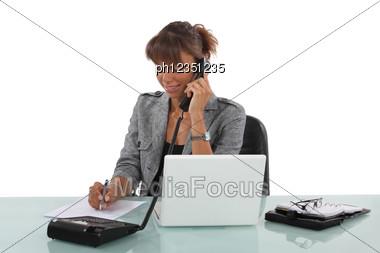 Busy Secretary Stock Photo