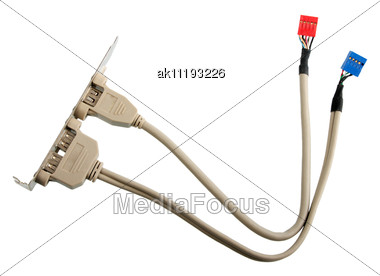 Cable For Outside-device Commutation Close-up Studio Photography Stock Photo