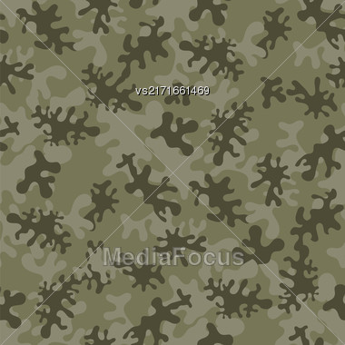 Camouflage Seamless Green Background. Military Woodland Style Stock Photo