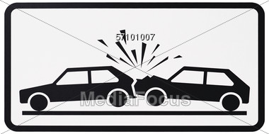 Stock Photo Car Accident Sign Clipart - Image 57101007 - Car ...