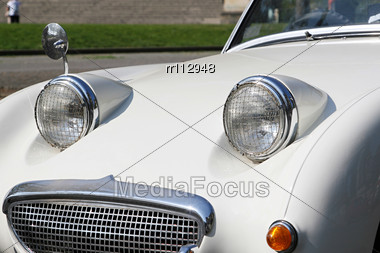 Car With The Surprised Look In Its Face Stock Photo