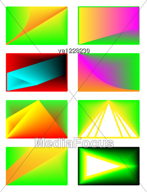 Card Set Of 8 Different Design For Any Usage In Vector Format Stock Photo