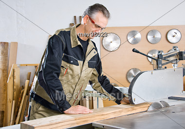 Royalty-Free Stock Photo: Carpenter with Circular Saw