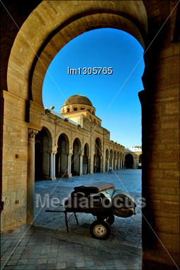 Carpet Car Great Mosque Of Kairouan Tunisia The Fourth Most Sacred Place Of Islam Stock Photo