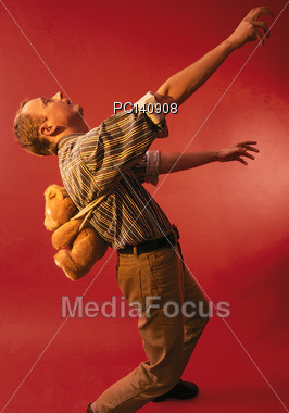 Carrying a Heavy Load Stock Photo