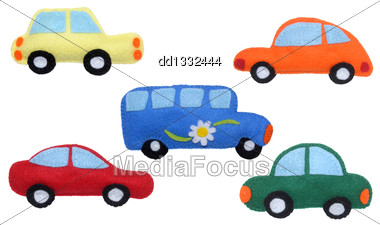 Cars And Bus - Kids Toys Stock Photo