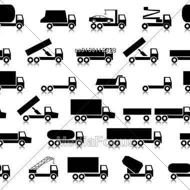 Cars, Vehicles. Car Body. Seamless Wallpaper. Stock Photo