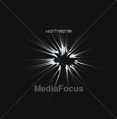 Cartoon Explosion, Star Burst Isolated On Dark Background Stock Photo