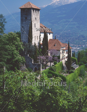 Castle in South Tirol Italy Stock Photo