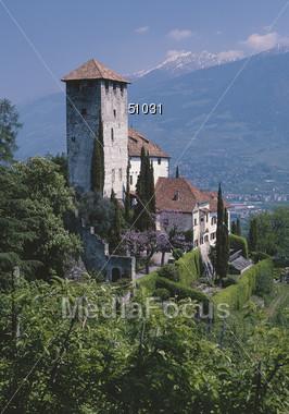 Castle Lebensburg, near Merano Stock Photo