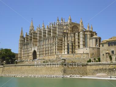 Cathedral Of Santa Maria Of Palma, Or La Seu, A Gothic Roman Catholic Cathedral Located In Palma, Majorca, Spain Stock Photo
