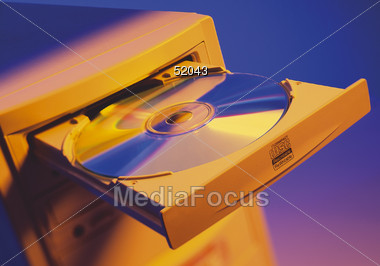 CD or DVD Recording Stock Photo