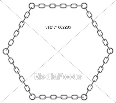 Chain Triangle Frame Isolated On White Background Stock Photo