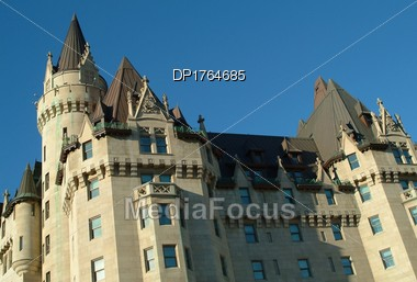 The Chateau Laurier Hotel Stock Photo