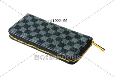 Checkered Purse Stock Photo