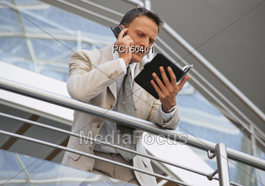 Checking an Appointment Stock Photo